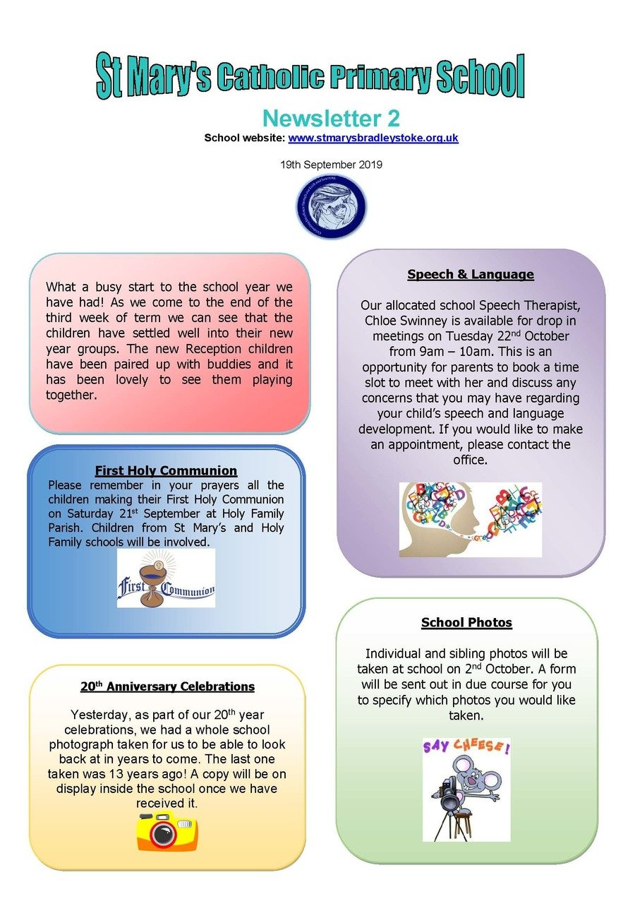 Newsletter 2 - 19.09.19