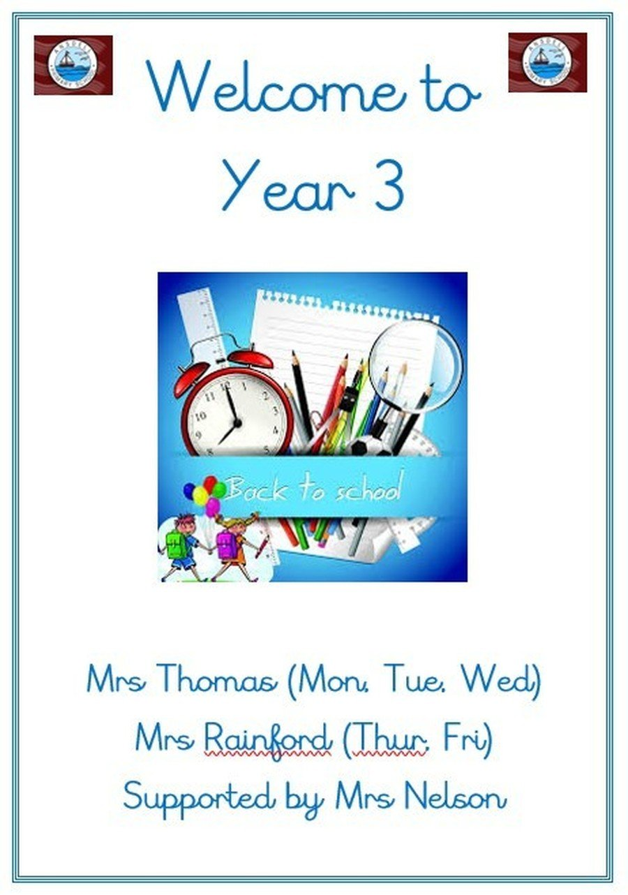 Please click here to download a copy of our Welcome to Year 3 information pack