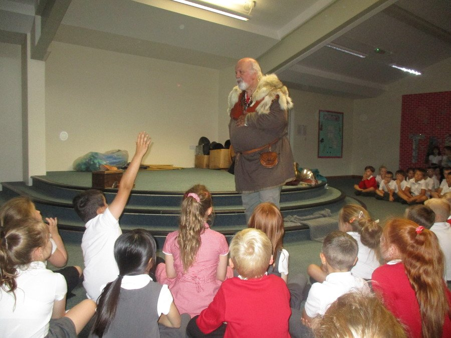 We had an exciting visit from an Anglo-Saxon!