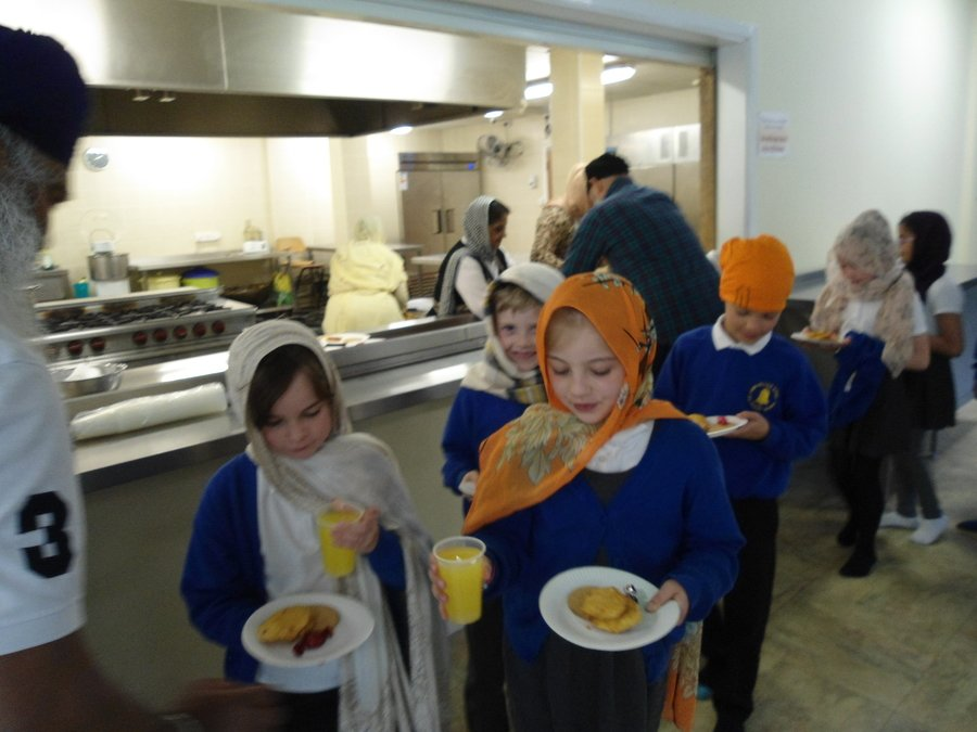 We visited the Sikh Temple and were invited to share food in the langar