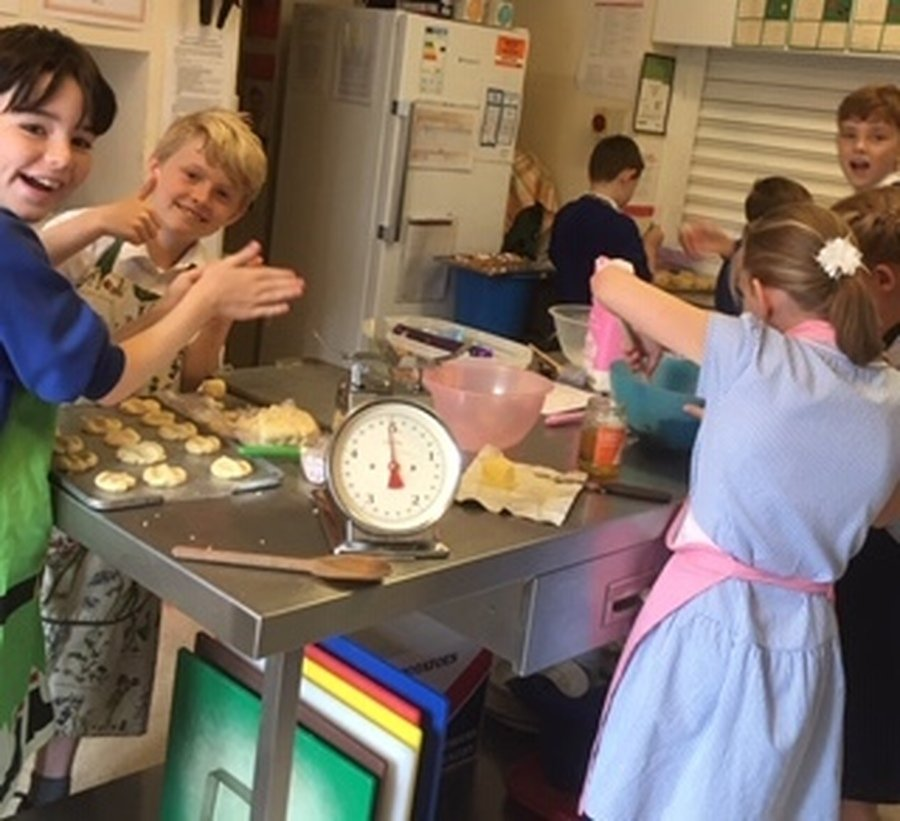 School Council messy cake baking afternoon