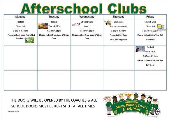 Afterschool Club Oct-Dec 2017 1