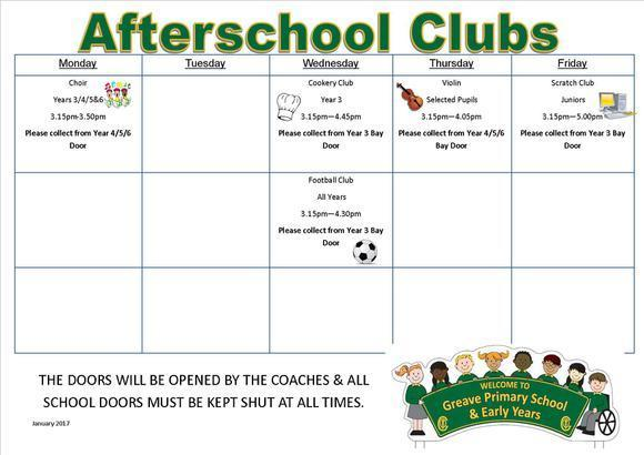 Afterschool Clubs January 2017 1