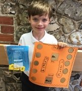 This child devised his own board game to help children practise their number bonds