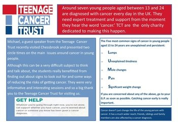 February - Teenage Cancer Trust