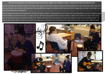 February - Herts Music tutor our students