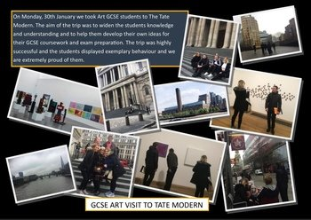 January - GCSE Art visit to the Tate Modern