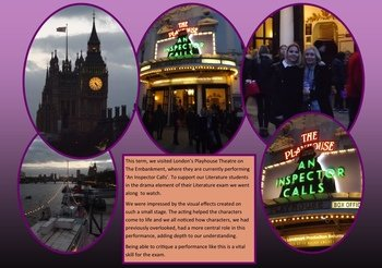 January - English visit to 'An Inspector Calls'