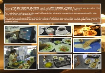 May - Catering students visit West Herts College