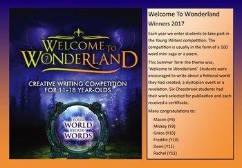 September - Wonderland Winners