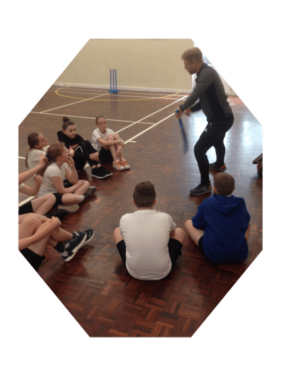 Staff CPD - A specialist P.E coach from Washington Cricket Club supporting our Cricket team and developing staff subject knowledge.