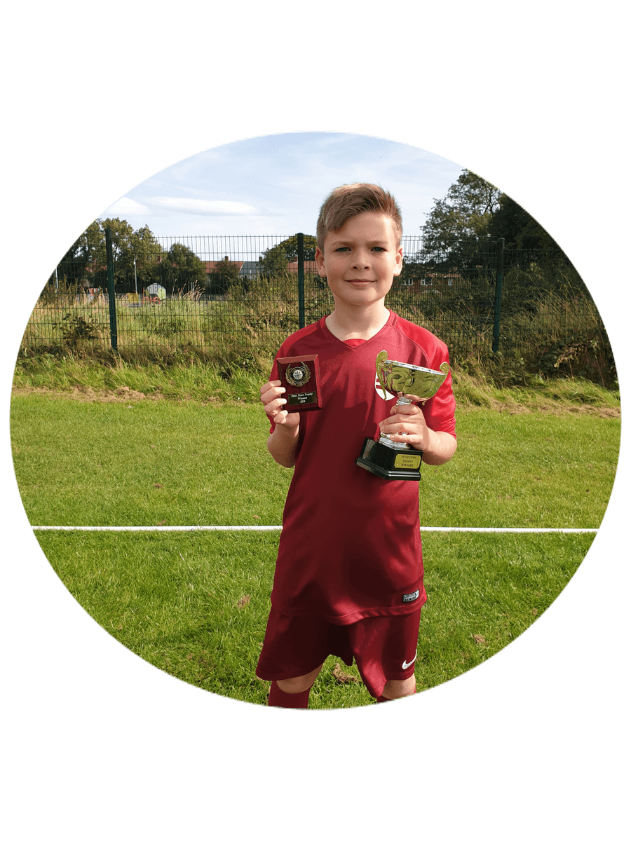 One of our football stars representing Washington District side and helping them to gain their first trophy in 50 years. Well done Matthew