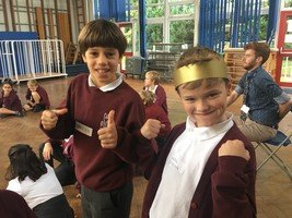 Year 5 took part in Young Shakespeare works on Macbeth