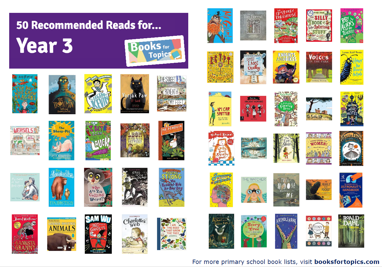 Image result for year 3 recommended reads