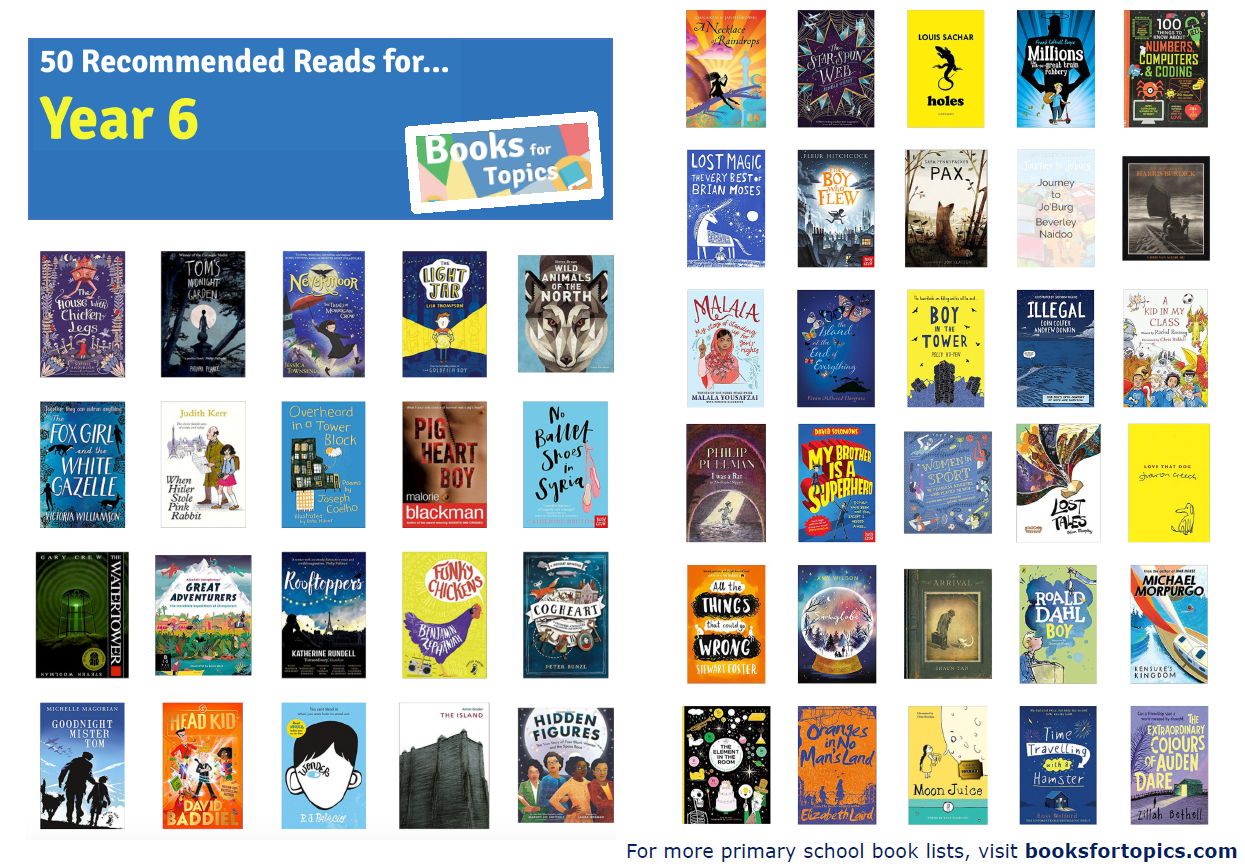 Image result for 50 recommended reads for year 6