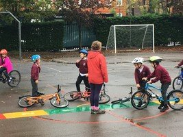 Year 3 Level 1 Bikeability course