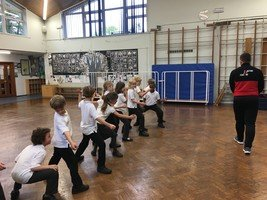 Year 3 tried a fencing taster class