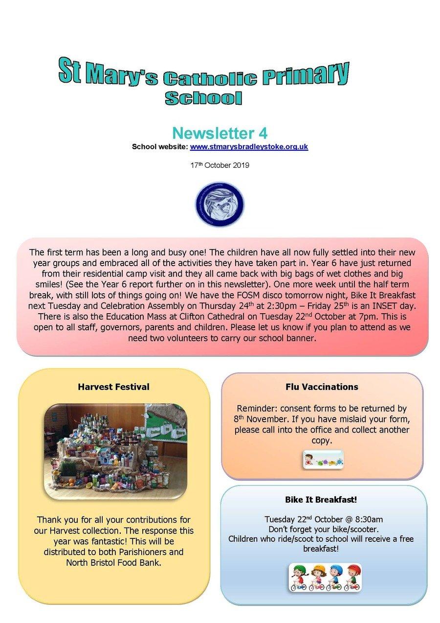Newsletter 4 - 17.10.19