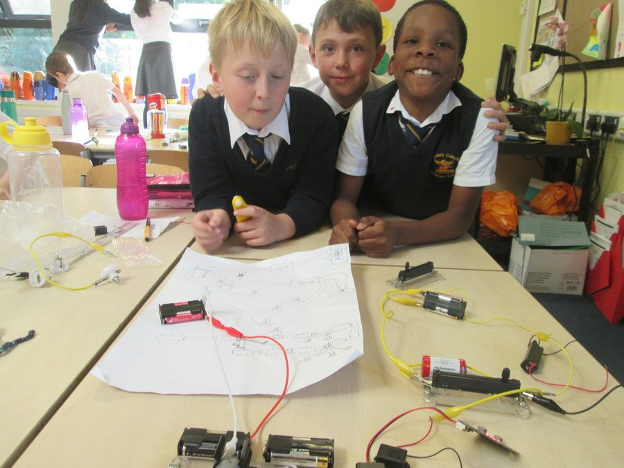 Creating buzzer burglar alarms in science.