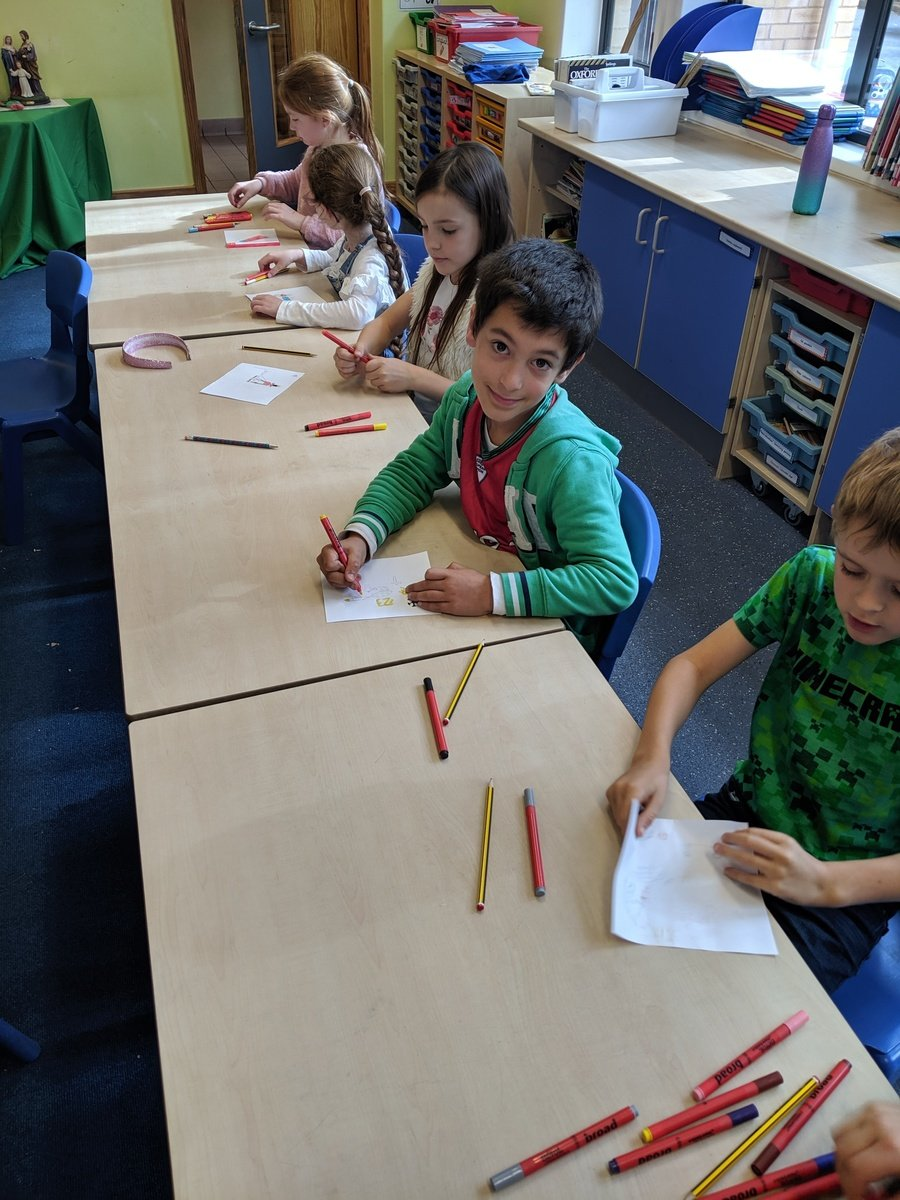 We drew and coloured in our 'talents' inspired by the Parable of the Talents