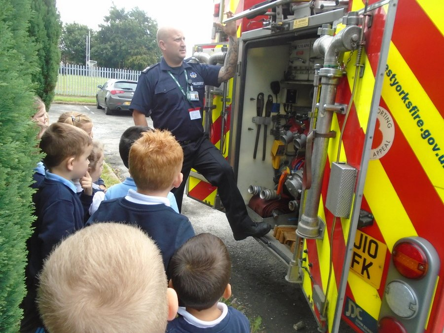 The children learnt about the fire engine when we had some exciting visitors!