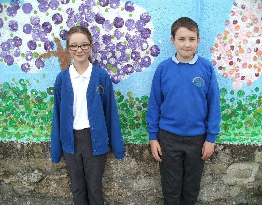 School Council Leaders: Caitlin and Finley