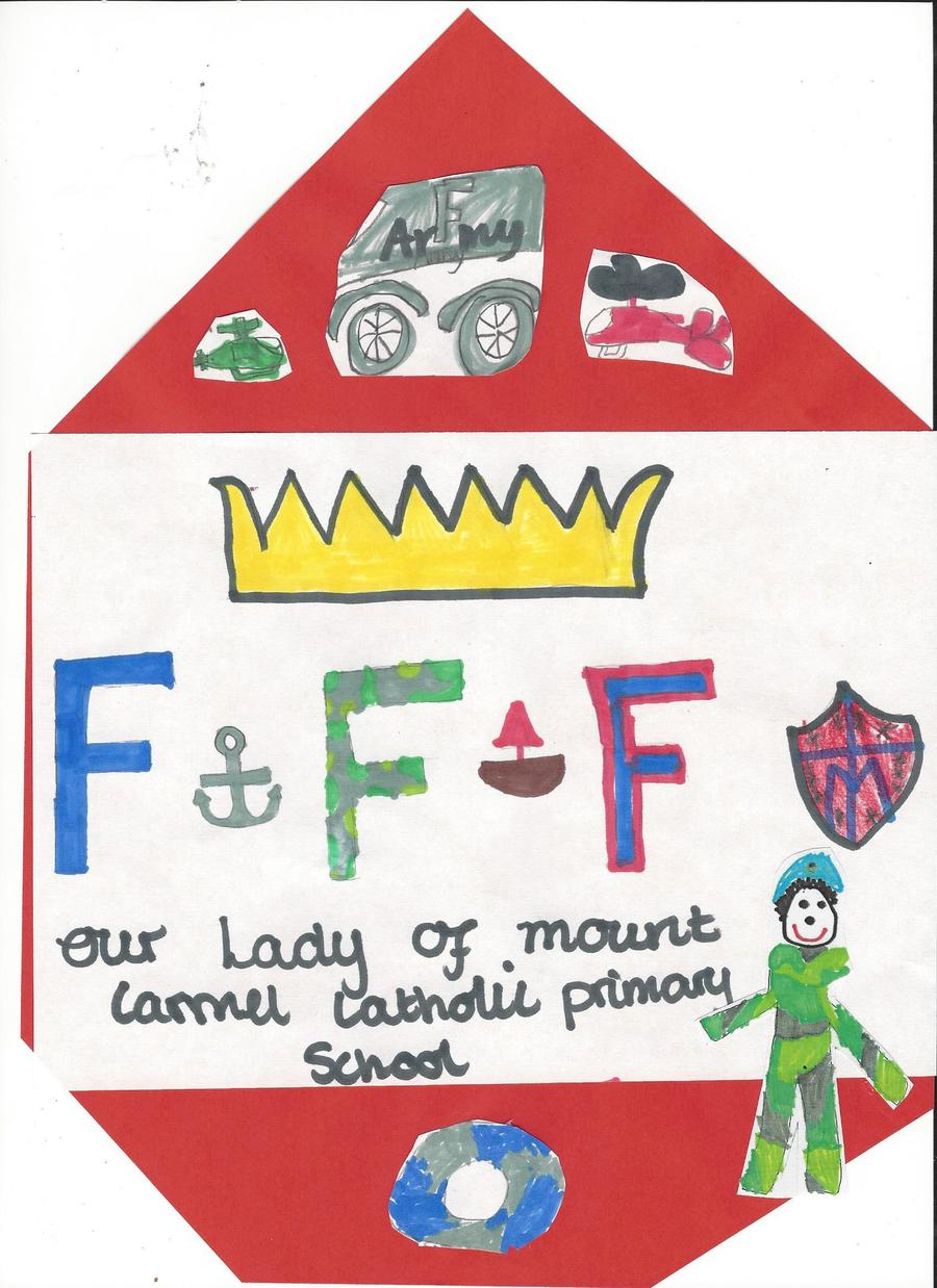 The children have designed a Forces Friends Friday Logo!