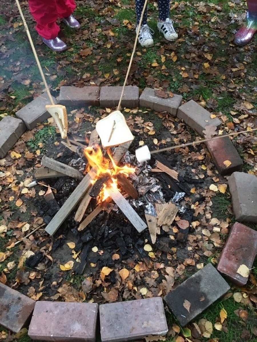 Building fires and toasting marshmallows.
