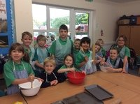 Baking for the school harvest market