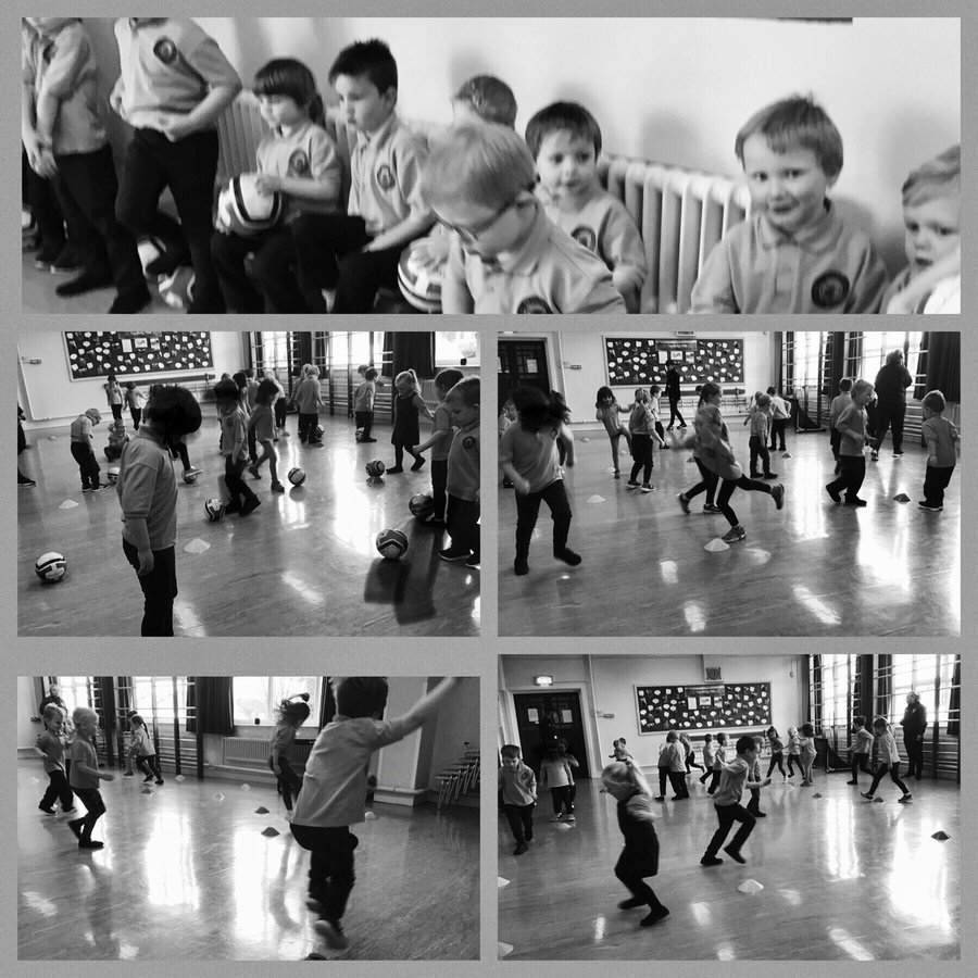 The children really enjoy PE time ! We are learning lots of new skills .