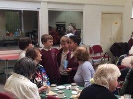 Our choir sang at St James Church's Teatime club