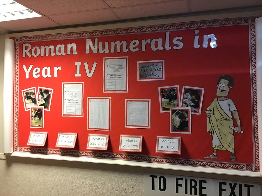 Year 4 have been learning all about Roman Numerals