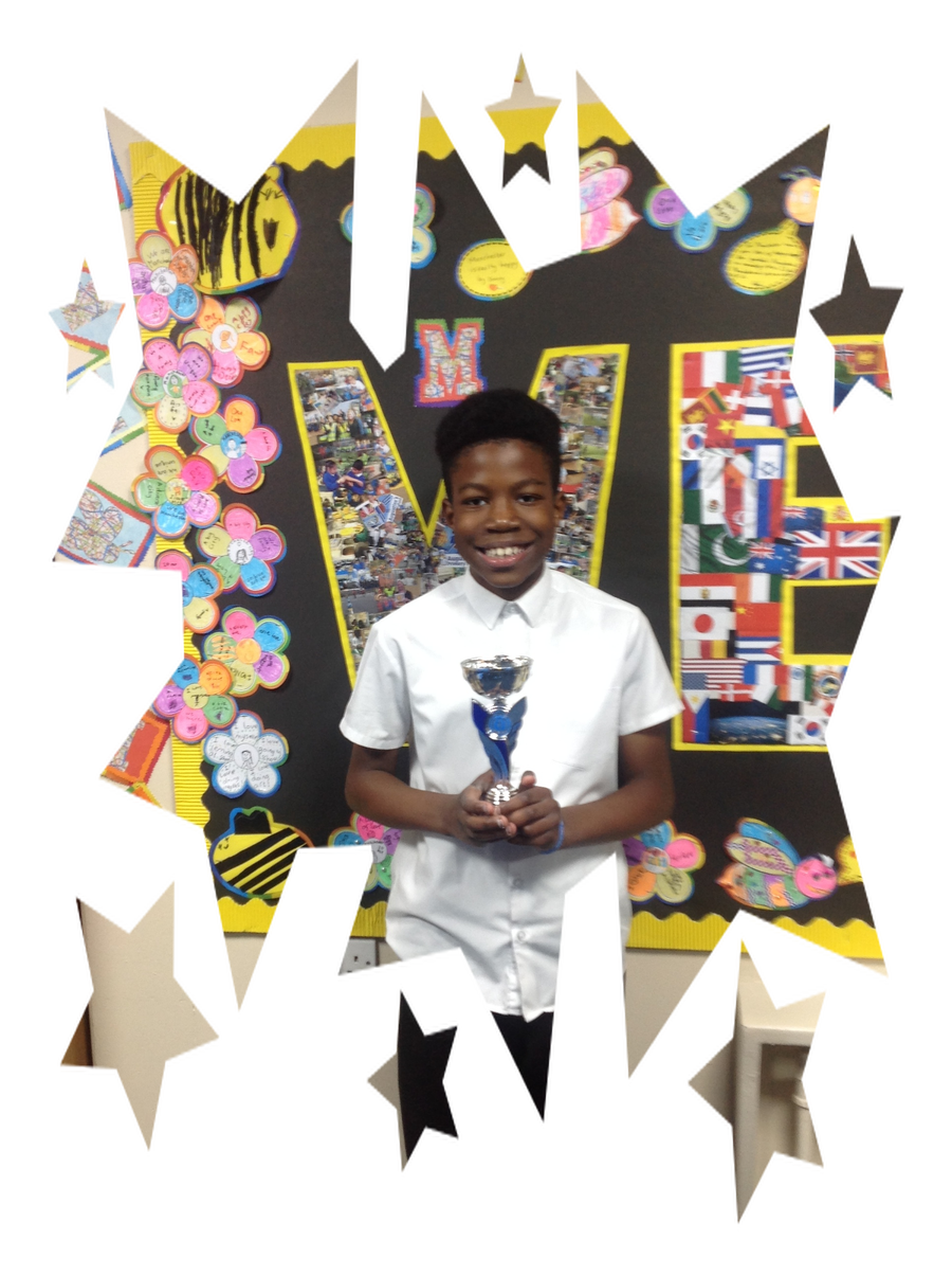 This week Patrick was chosen for sports star of the week.