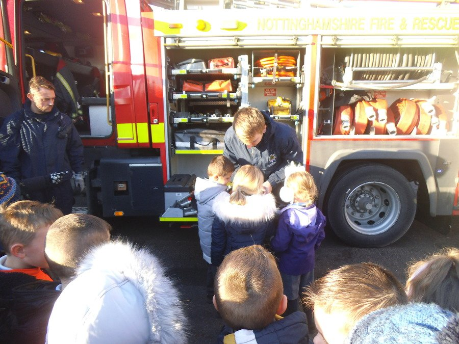 Worksop Firefighters came to visit Year One!