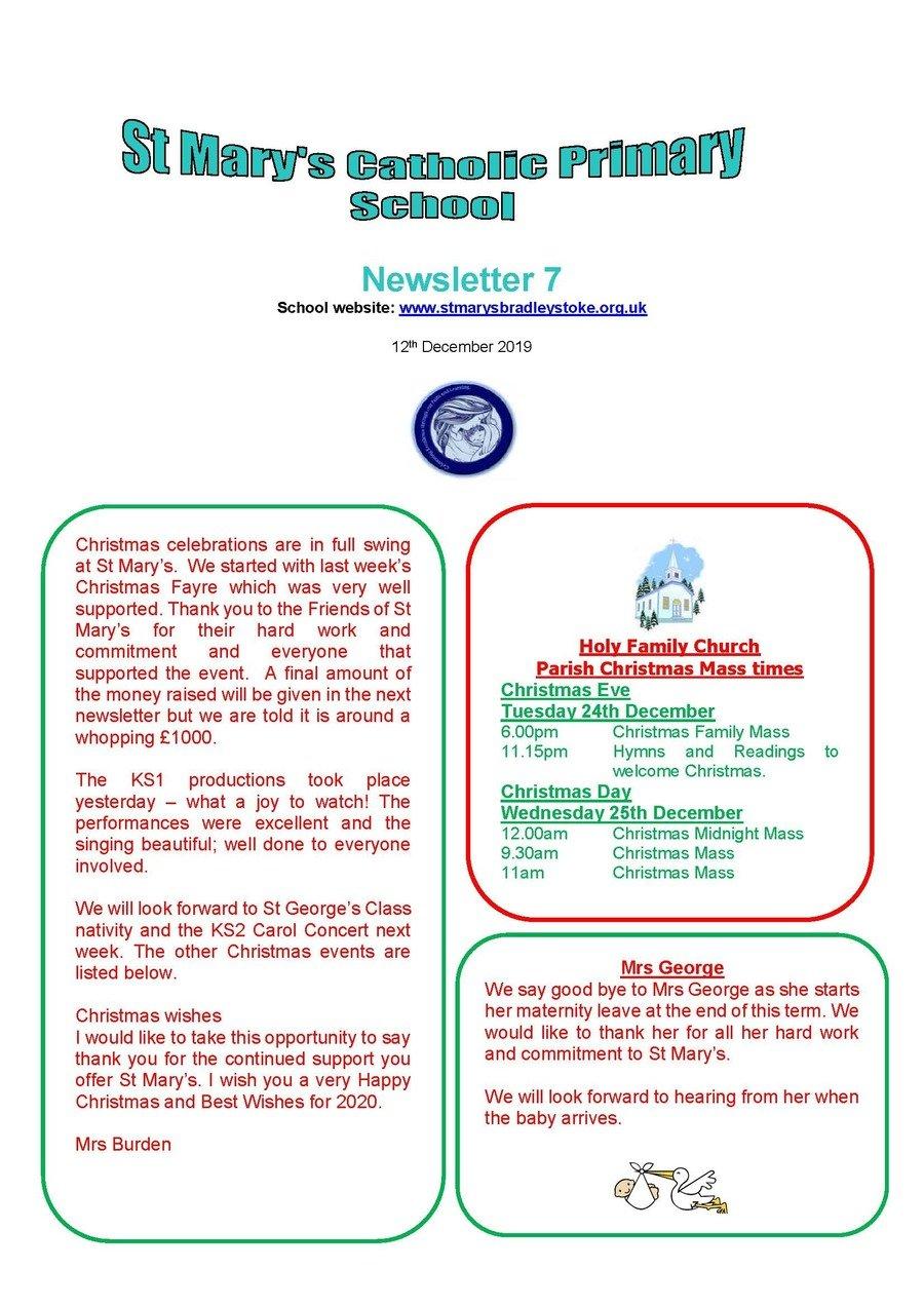 Newsletter 7 - 12.12.19