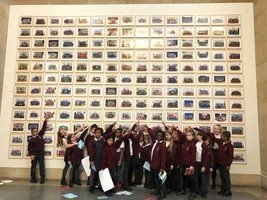 Year 4 visited the Tate Britain to see their Year 3Steve McQueen portraits