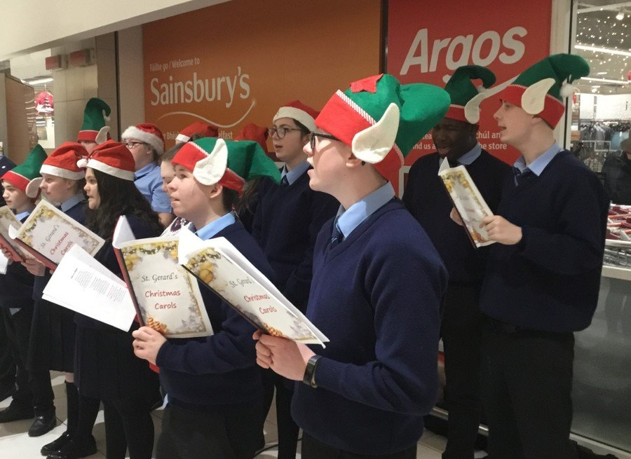 The School Choir Out & About Spreading Festive Cheer!