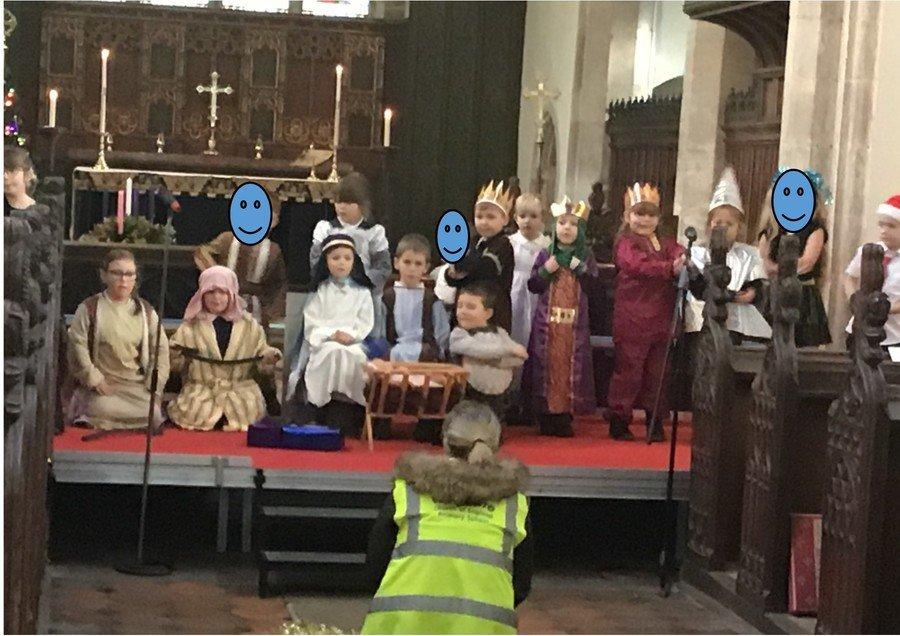 Class1's Nativity at the church