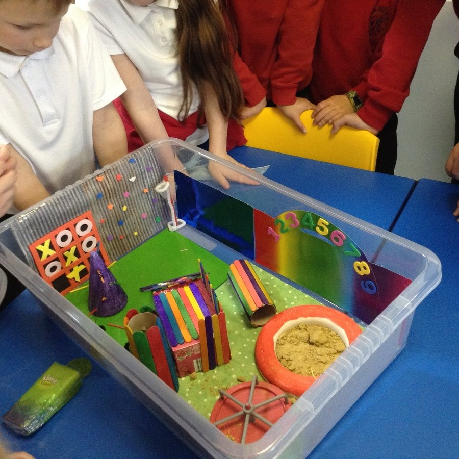 A fabulous example of a 'Perfect Playground' from our fantastically creative children!