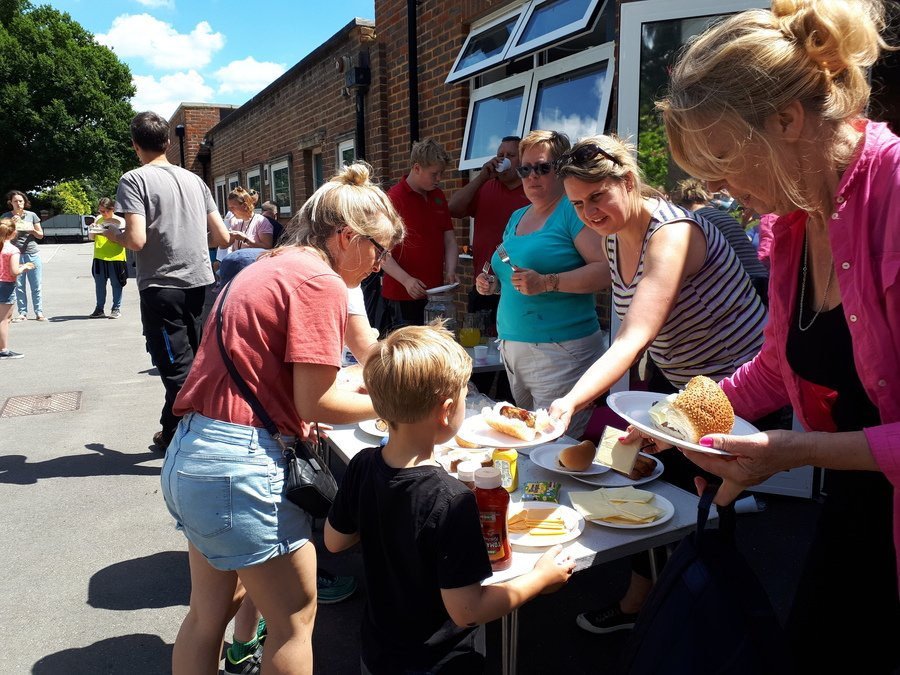 Lunch for our fabulous volunteers at our DIY day - June 2019
