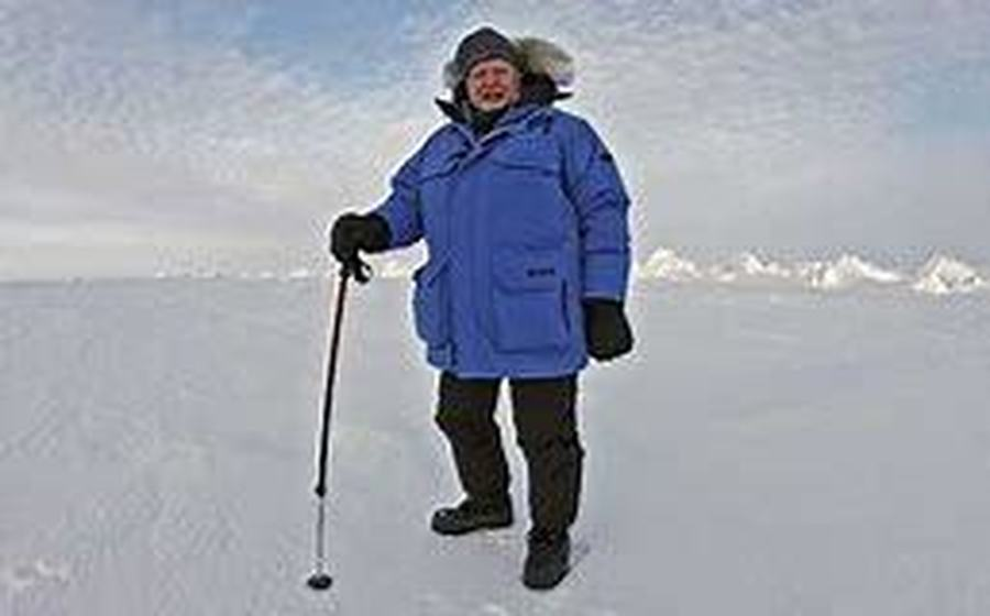 Sir David Attenborough in the Antarctic on his Frozen Planet adventure