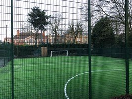 Our new astroturfed football pitch