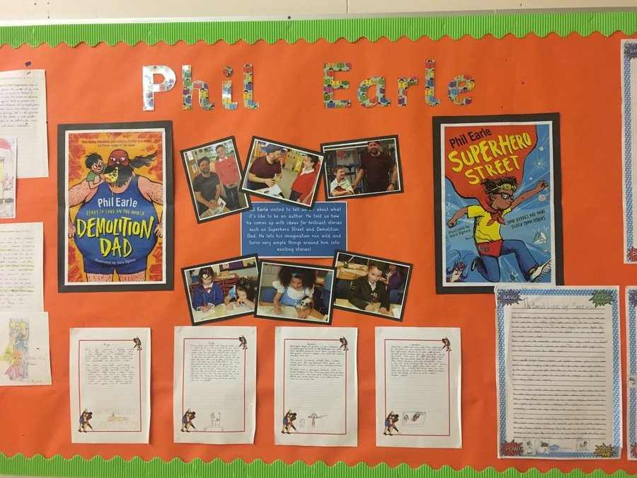We welcomed Phil Earle into school to talk about his writing with KS2 pupils