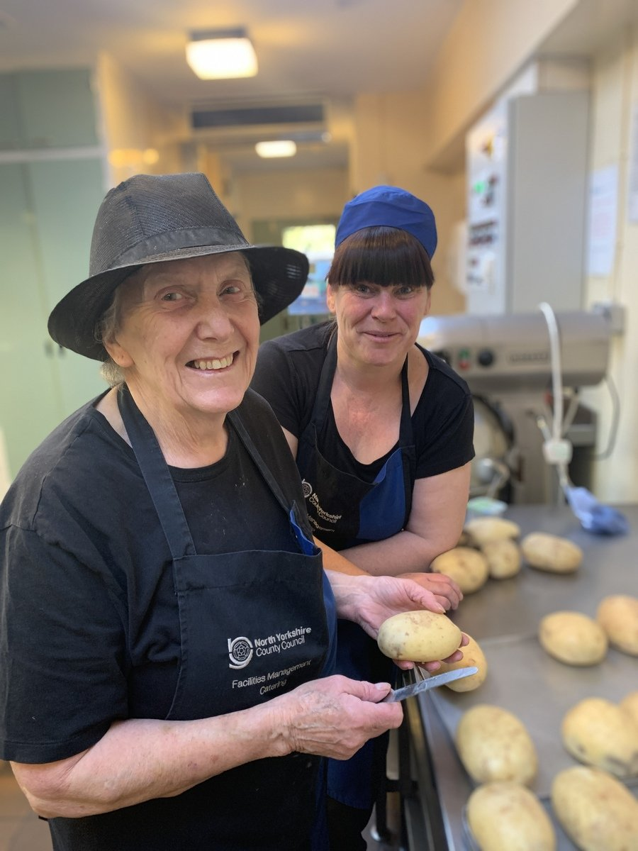 Our Kitchen Team: Mary & Michelle