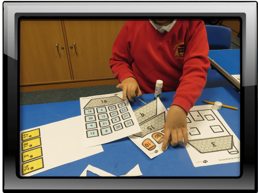 Learning our 3 times tables