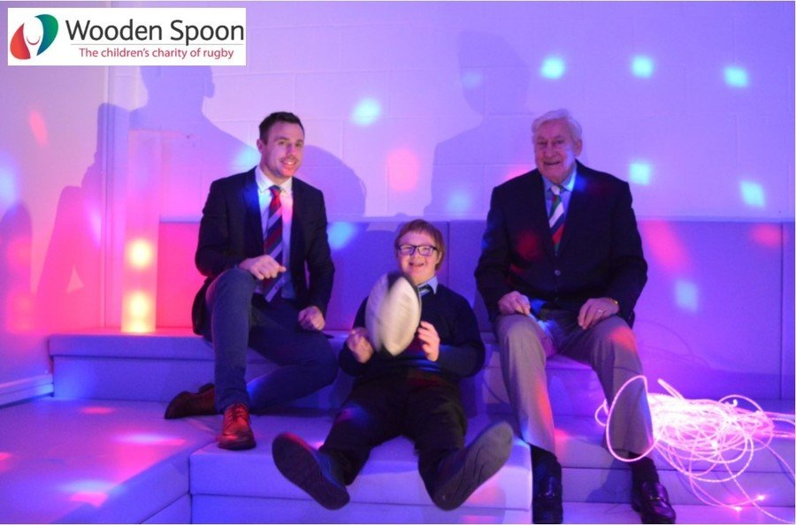 Official Opening of our new Sensory Room by two sporting legends