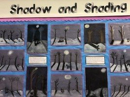 Year 5 artwork on shading and shadowing