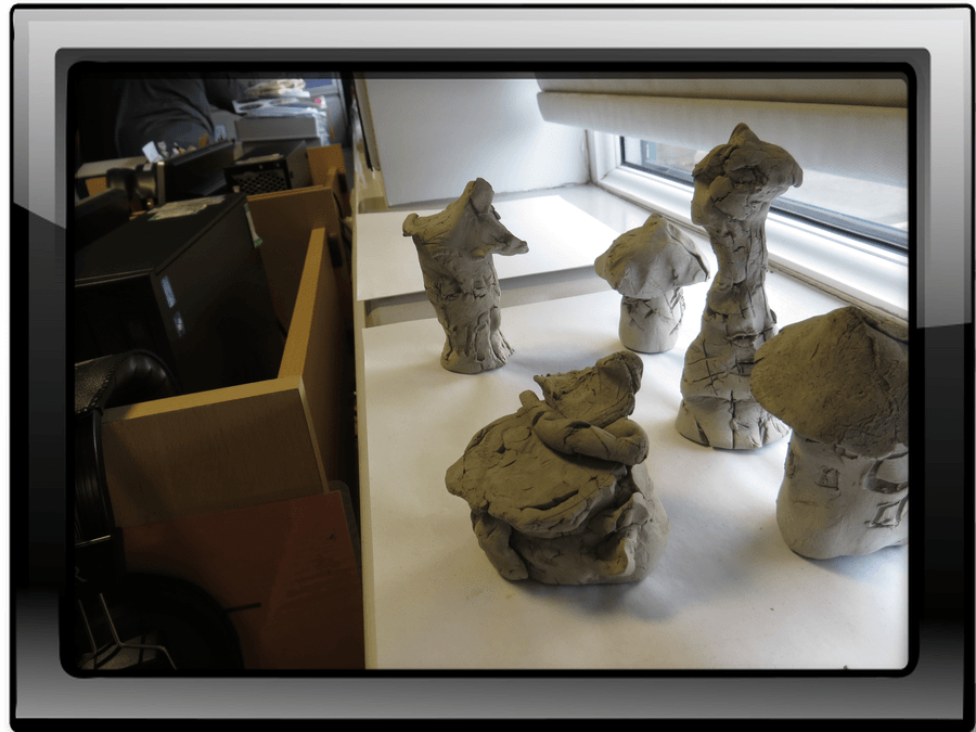 Clay Castles inspired by Barbara Hepworth