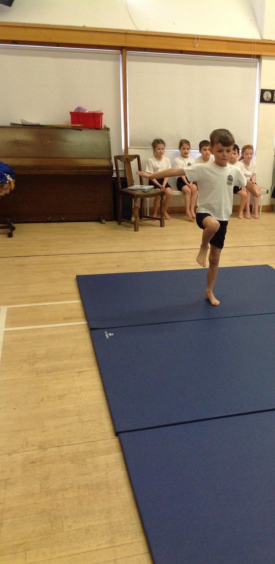 Alfie's one leg balance was great!