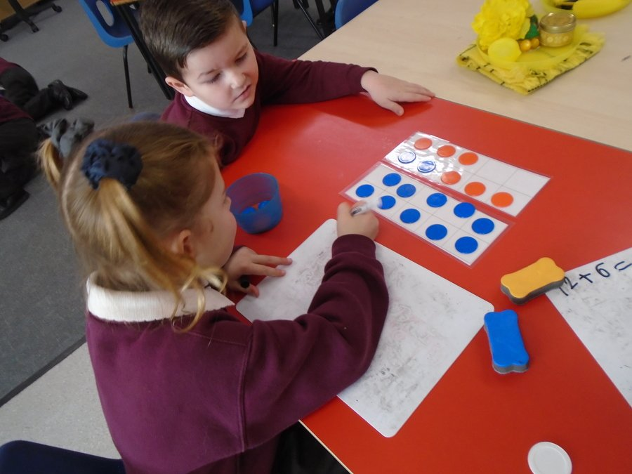 In Maths we are learning to regroup.